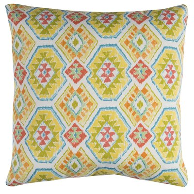 Broadway Indoor/Outdoor Polyester Throw Pillow Color: Yellow/Green