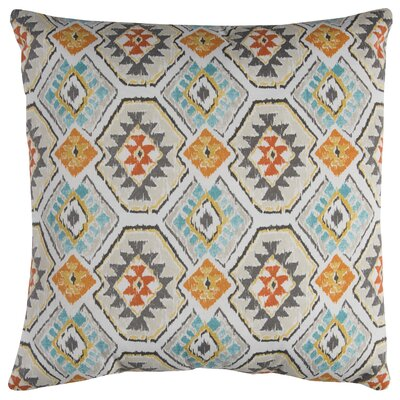 Broadway Indoor/Outdoor Polyester Throw Pillow Color: Teal/Orange