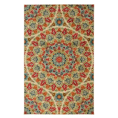 Albion Red Indoor Area Rug Rug Size: 5 x 8