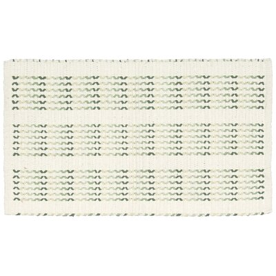Charmine Ivory/Lime Area Rug Rug Size: Rectangle 23 x 39