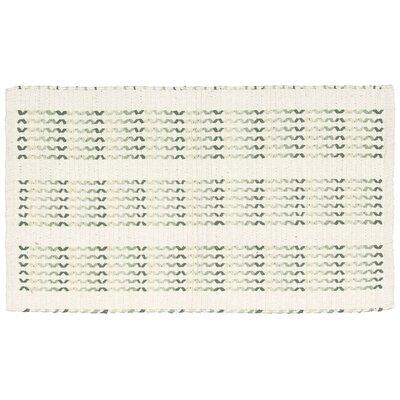 Charmine Ivory/Lime Area Rug Rug Size: 23 x 39