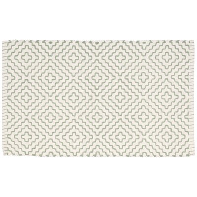 Alameda Green/Cream Area Rug Rug Size: 23 x 39