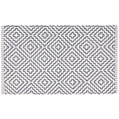 Charmine Denim/White Area Rug Rug Size: 23 x 39