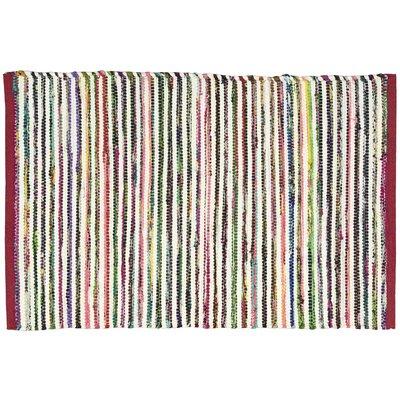 Anzac Pink/Green Area Rug Rug Size: 26 x 4