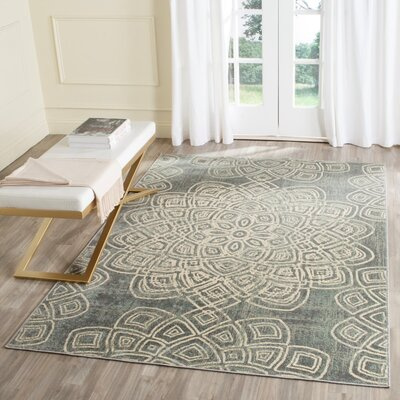 Avalon Light Gray Area Rug Rug Size: 67 x 92
