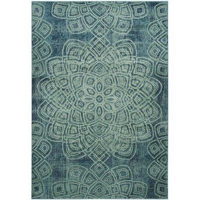 Avalon Light Blue Area Rug Rug Size: Rectangle 53 x 76