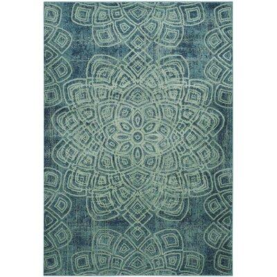 Avalon Light Blue Area Rug Rug Size: 53 x 76