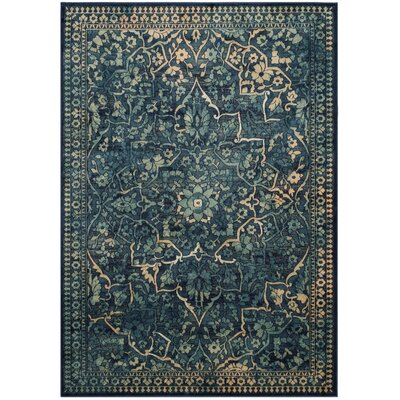 Arrow Dark Blue / Yellow Area Rug Rug Size: 8 x 112