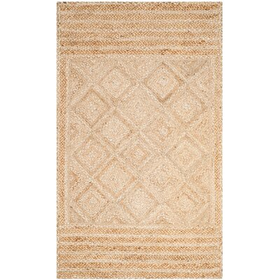 Leonard Hand-Woven Natural Area Rug Rug Size: 5 x 8