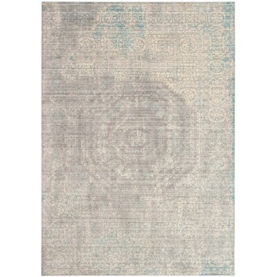 Esmeyer Gray Area Rug Rug Size: 5 x 8