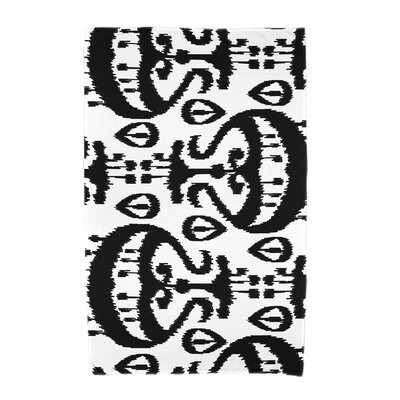 Ikat Beach Towel Color: Black