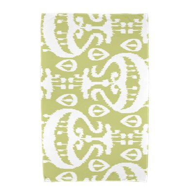 Ikat Beach Towel Color: Green