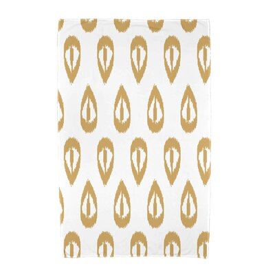 Ikat Tears Beach Towel Color: Gold