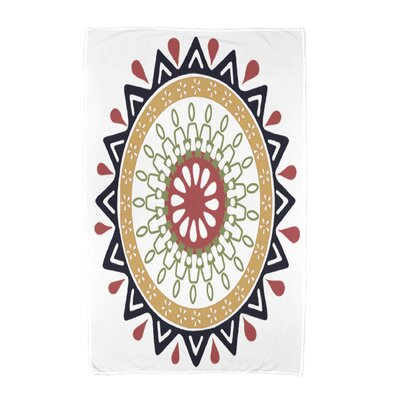 Geometric Print Beach Towel Color: Navy Blue