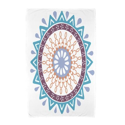 Geometric Print Beach Towel Color: Turquoise