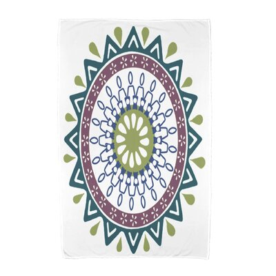 Geometric Print Beach Towel Color: Teal