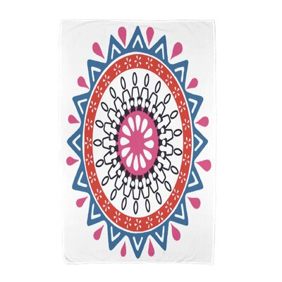 Geometric Print Beach Towel Color: Blue