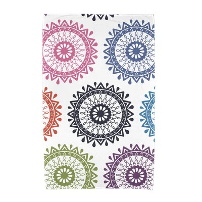 Groovy Geometric Print Beach Towel Color: Navy Blue