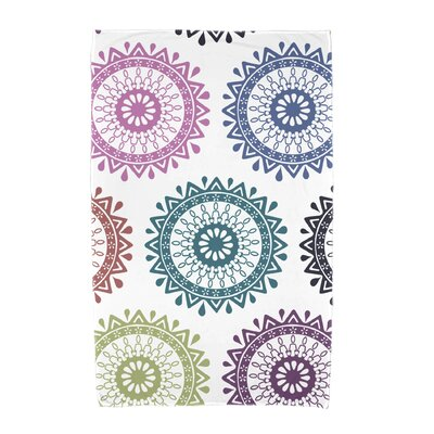 Groovy Geometric Print Beach Towel Color: Teal