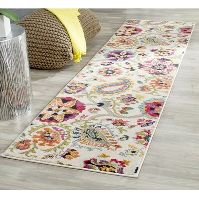 Ivory Area Rug Rug Size: Runner 22 x 12