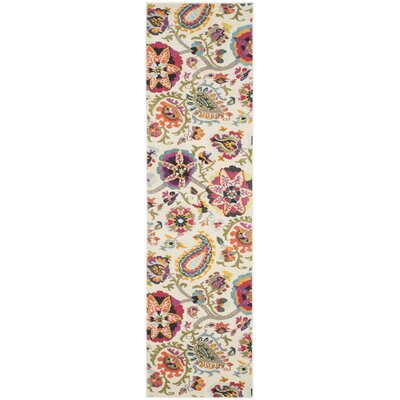 Ivory Area Rug Rug Size: Runner 22 x 8