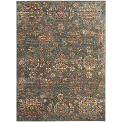 Beausejour Grey Area Rug Rug Size: 53 x 76