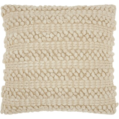 Colmars Throw Pillow Color: Beige