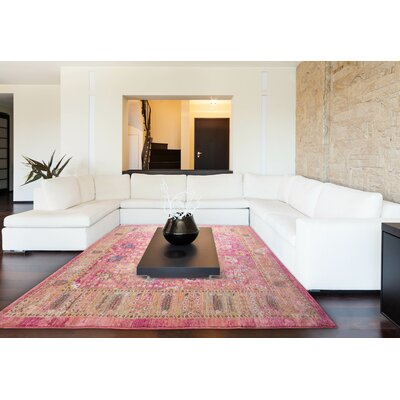 Dondre Pink Area Rug Rug Size: Rectangle 52 x 76