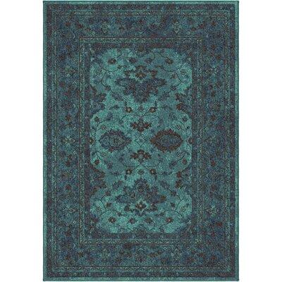Los Feliz Blue Area Rug Rug Size: 53 x 76