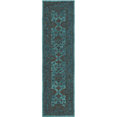 Los Feliz Blue Area Rug Rug Size: Runner 23 x 8