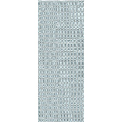 Skoura Hand-Woven Gray/Blue Area Rug Rug Size: 2' x 3'