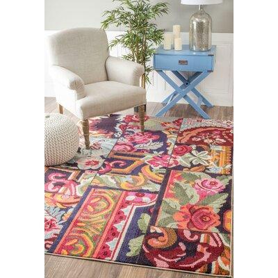 Hashmi Rose Garden Blue/Pink Area Rug Rug Size: Rectangle 710 x 11