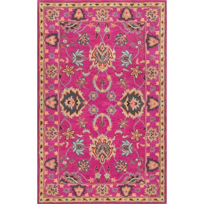 Vara Hand-Tufted Pink Area Rug Rug Size: 76 x 96