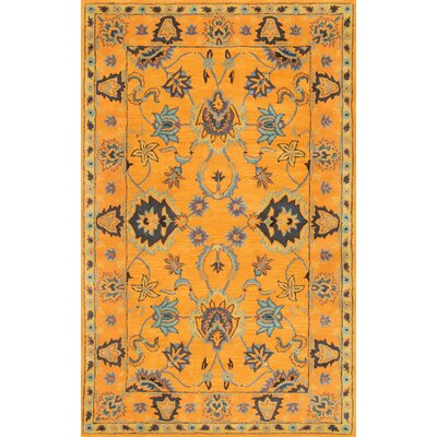 Vara Hand-Tufted Gold Area Rug Rug Size: 76 x 96