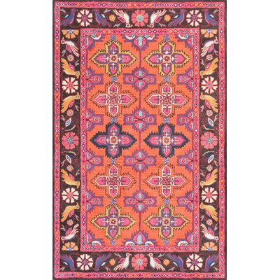 Cherell Hand-Tufted Pink Area Rug Rug Size: Rectangle 5 x 8