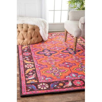 Bungalow Rose Inaya Hand-Tufted Pink Area Rug