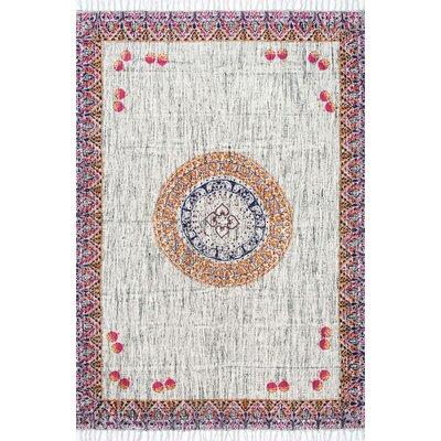 Ishanvi Gray Area Rug Rug Size: 5 x 8