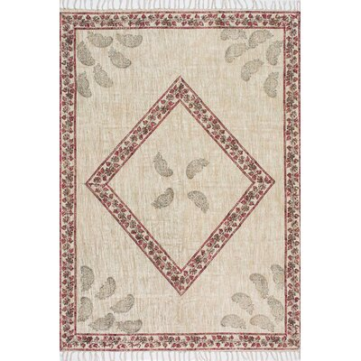 Iyanna Flat Woven Cotton Beige Area Rug Rug Size: Rectangle 5' x 8'