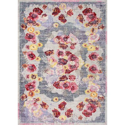 Sowa Floral Red Area Rug Size: 53 x 77