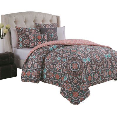 Sourya 5 Piece Comforter Set Size: King