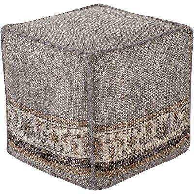 Gina Cube Pouf Ottoman Upholstery: Gray