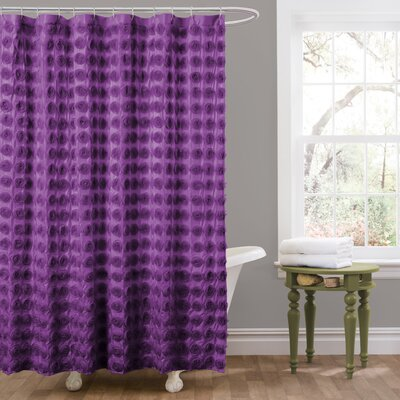Vicente Shower Curtain Color: Purple