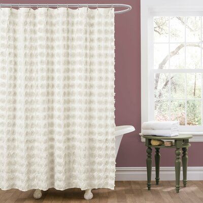 Vicente Shower Curtain Color: Ivory