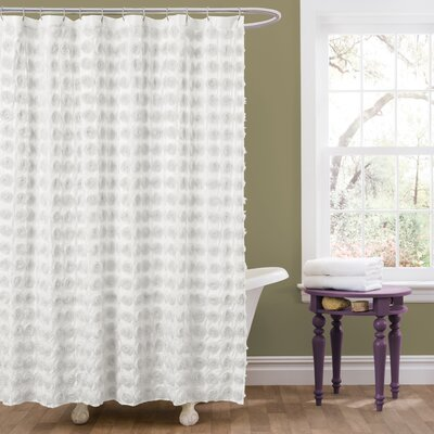 Vicente Shower Curtain Color: White