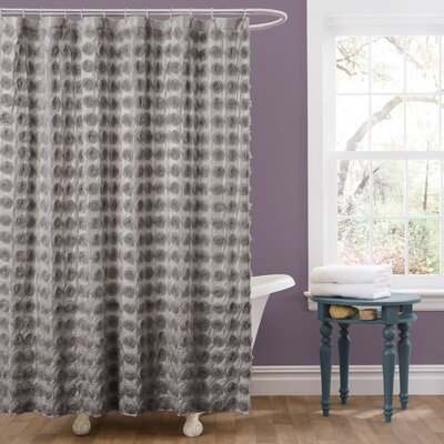 Vicente Shower Curtain Color: Gray