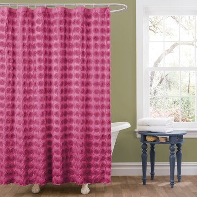 Vicente Shower Curtain Color: Pink