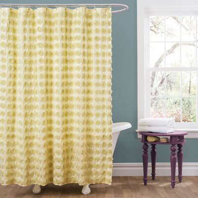 Vicente Shower Curtain Color: Yellow