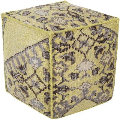Gina Pouf Ottoman Upholstery: Lime
