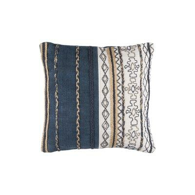Haman Handmade Cotton Throw Pillow Size: 20 H x 20 W x 4 D, Fill: Down