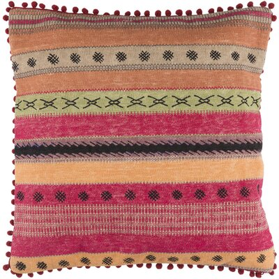 Fressia Cotton Throw Pillow Size: 20 H x 20 W x 4 D